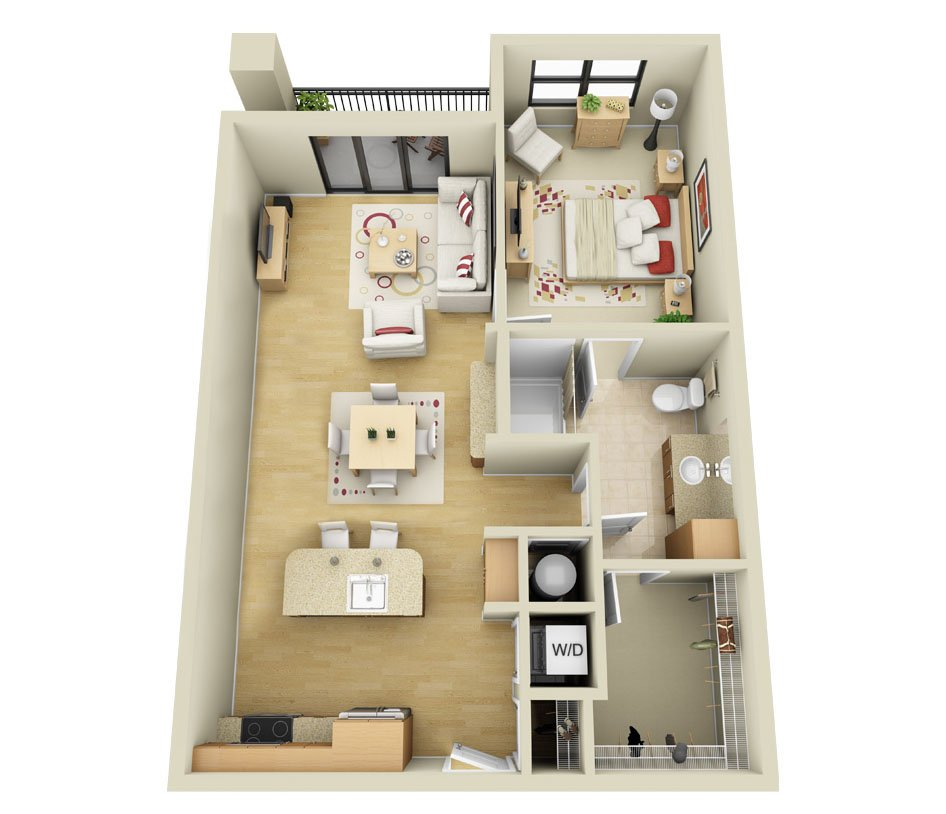 1 Bedroom 1 Bathroom Apartment for rent at Cielo Apartments in Charlotte, NC
