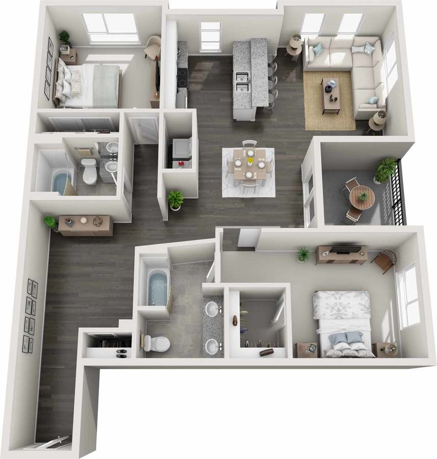 2 Bedrooms 2 Bathrooms Apartment for rent at GARDENS AT CHERRY CREEK in Denver, CO