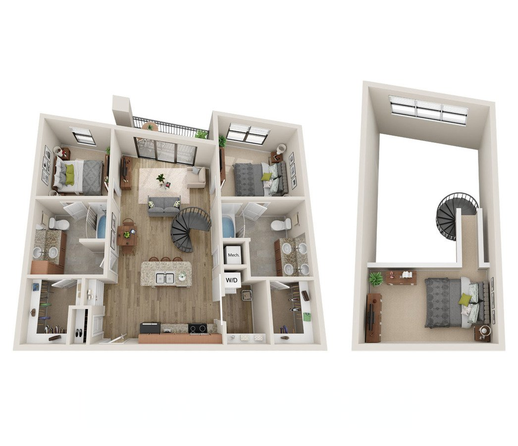 2 Bedrooms 2 Bathrooms Apartment for rent at Cielo Apartments in Charlotte, NC