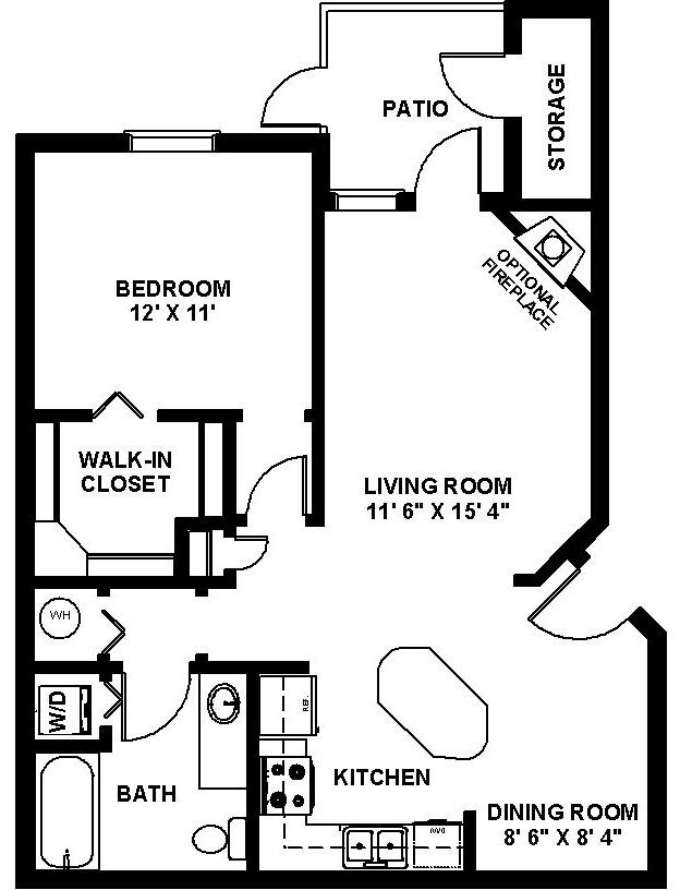 1 Bedroom 1 Bathroom Apartment for rent at Lighthouse Landings in Indianapolis, IN