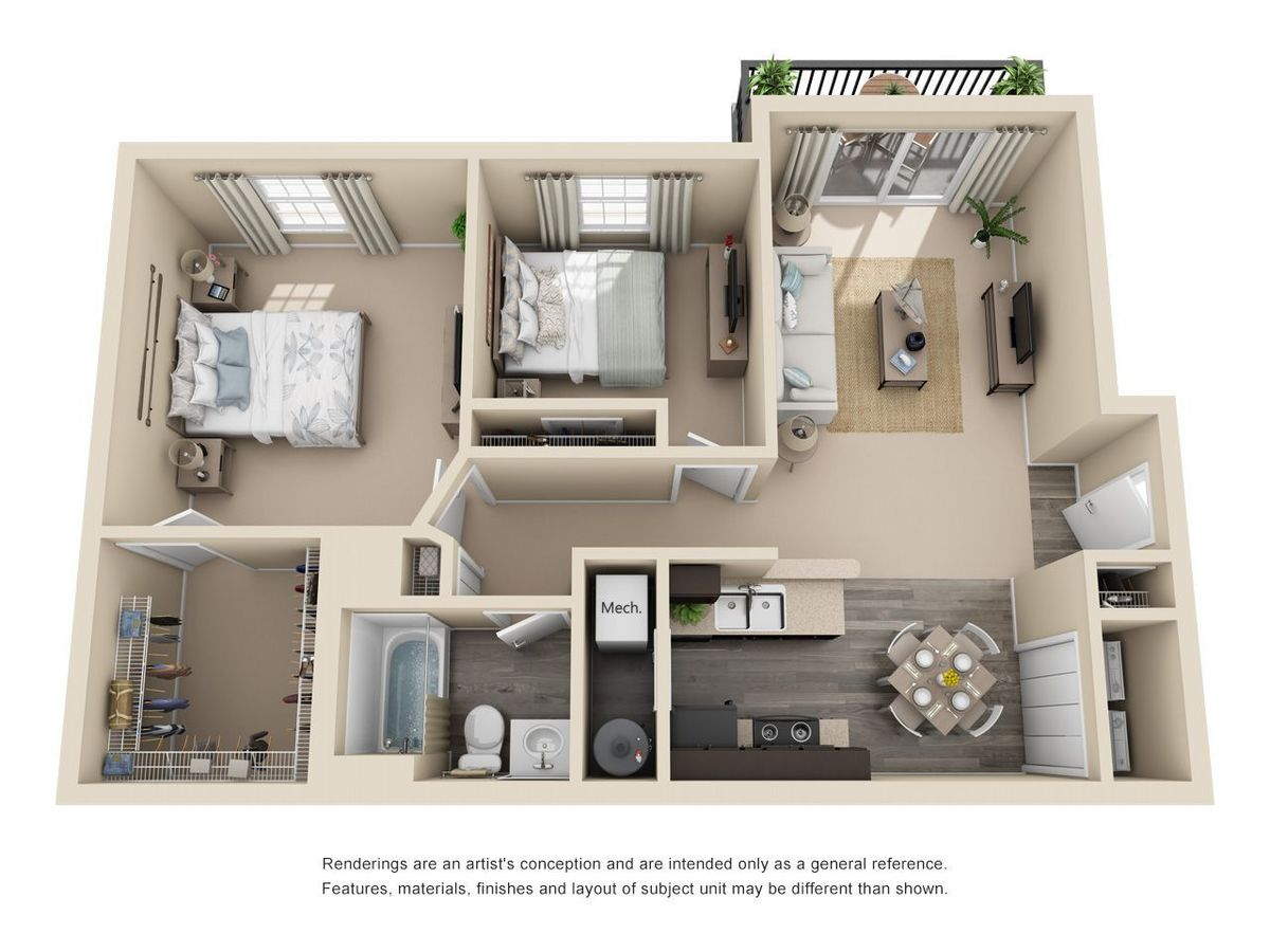 2 Bedrooms 1 Bathroom Apartment for rent at THE GARDENS in Columbus, OH