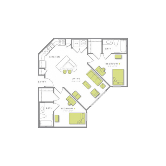 2 Bedrooms 2 Bathrooms Apartment for rent at Grandmarc At Tallahassee in Tallassee, FL