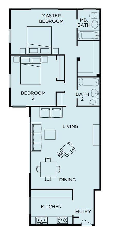 2 Bedrooms 2 Bathrooms Apartment for rent at Parkmerced in San Francisco, CA
