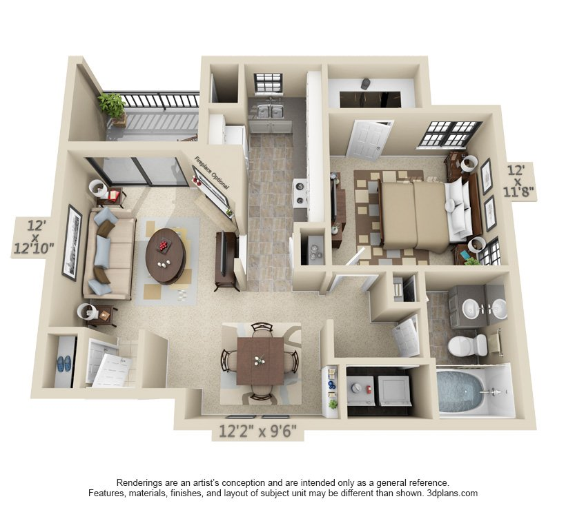 1 Bedroom 1 Bathroom Apartment for rent at Fountain View on the Plaza in Kansas City, MO