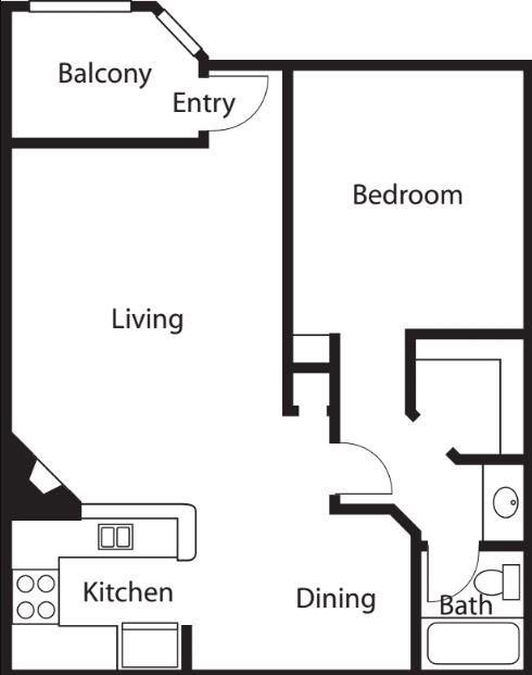 1 Bedroom 1 Bathroom Apartment for rent at Kenwood Mews in Burbank, CA
