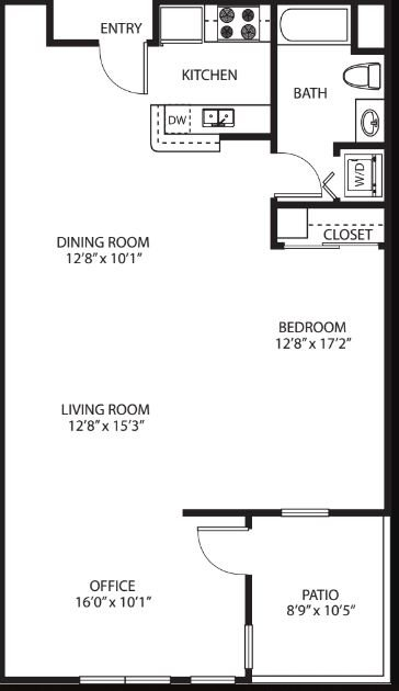 Studio 1 Bathroom Apartment for rent at Victor on Venice in Los Angeles, CA