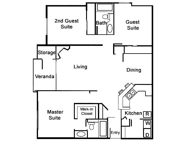 3 Bedrooms 2 Bathrooms Apartment for rent at Mill Creek in Milpitas, CA
