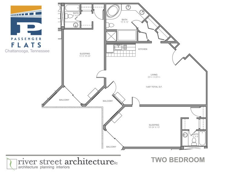 2 Bedrooms 3 Bathrooms Apartment for rent at Passenger Flats in Chattanooga, TN