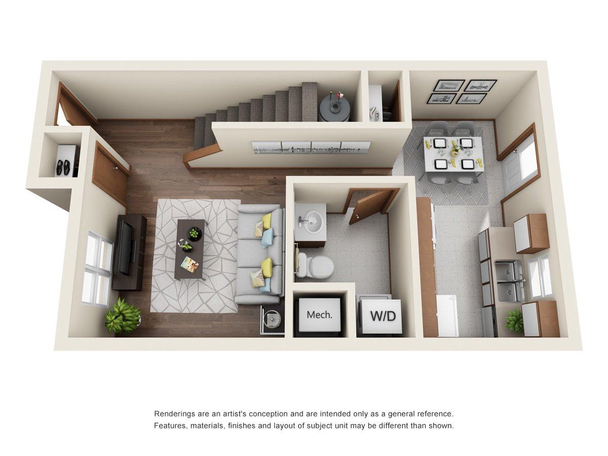 2 Bedrooms 2 Bathrooms Apartment for rent at Conestoga Crossing in Fremont, NE