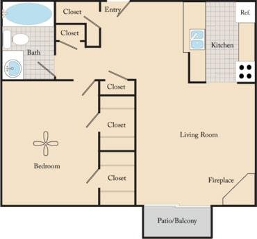 1 Bedroom 1 Bathroom Apartment for rent at Maple View Apartments in Omaha, NE