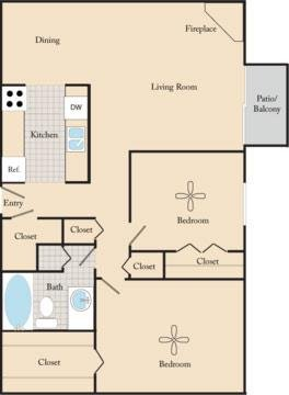 2 Bedrooms 1 Bathroom Apartment for rent at Maple View Apartments in Omaha, NE