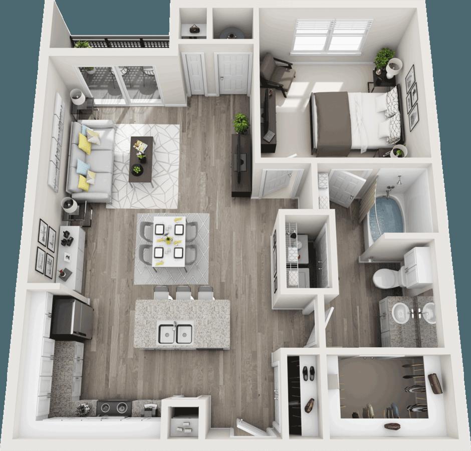 1 Bedroom 1 Bathroom Apartment for rent at Duke of Omaha in Omaha, NE