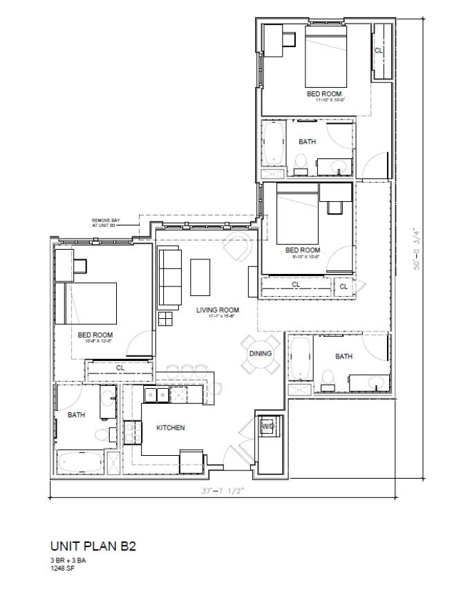 3 Bedrooms 3 Bathrooms Apartment for rent at 27 North in San Jose, CA