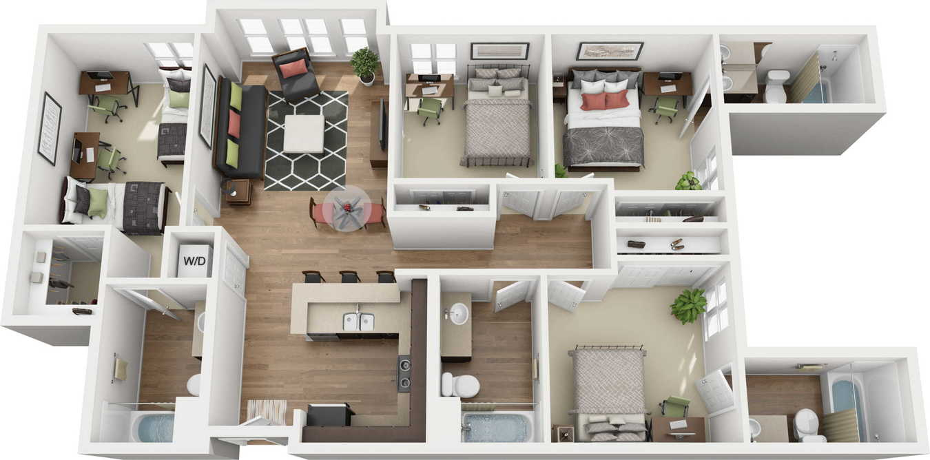4 Bedrooms 4+ Bathrooms Apartment for rent at 27 North in San Jose, CA