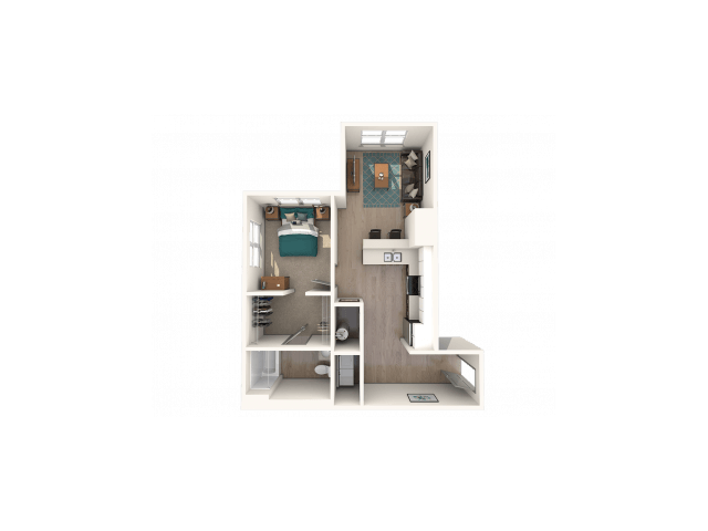1 Bedroom 1 Bathroom Apartment for rent at The Finmore at 241 in Boone, NC