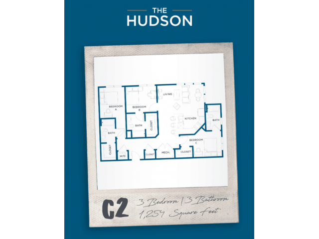 3 Bedrooms 3 Bathrooms Apartment for rent at The Hudson in College Station, TX