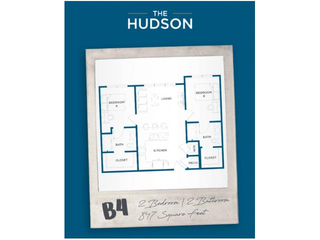2 Bedrooms 2 Bathrooms Apartment for rent at The Hudson in College Station, TX