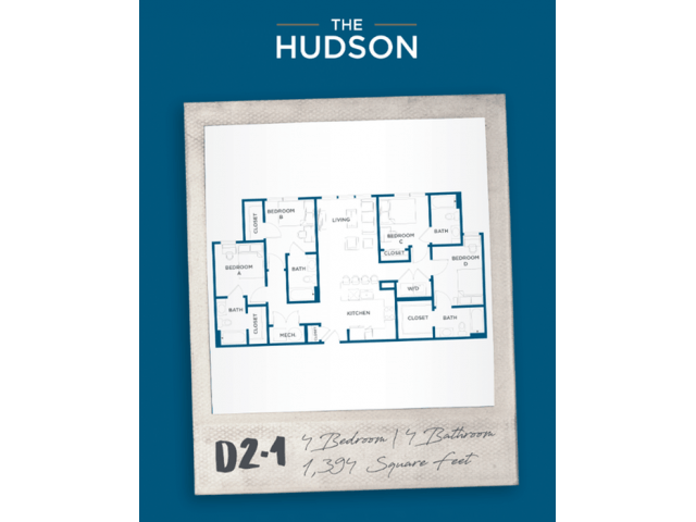 4 Bedrooms 4+ Bathrooms Apartment for rent at The Hudson in College Station, TX