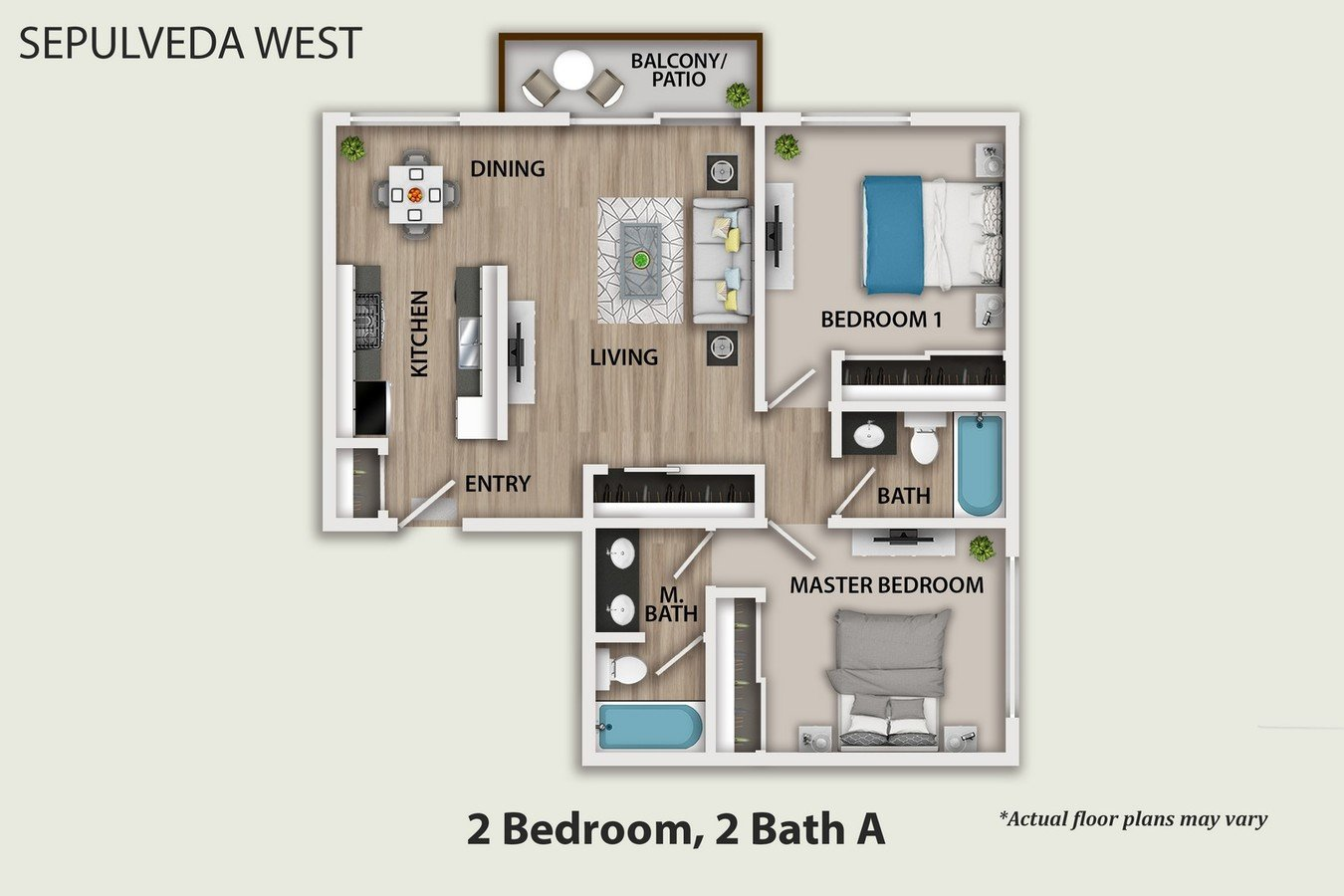 2 Bedrooms 2 Bathrooms Apartment for rent at Sepulveda West Apartments in Los Angeles, CA