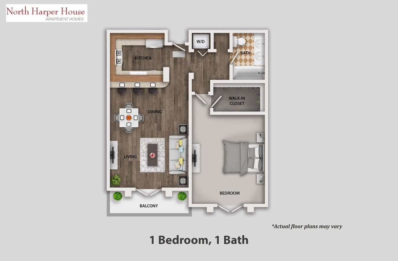1 Bedroom 1 Bathroom Apartment for rent at North Harper House in West Hollywood, CA