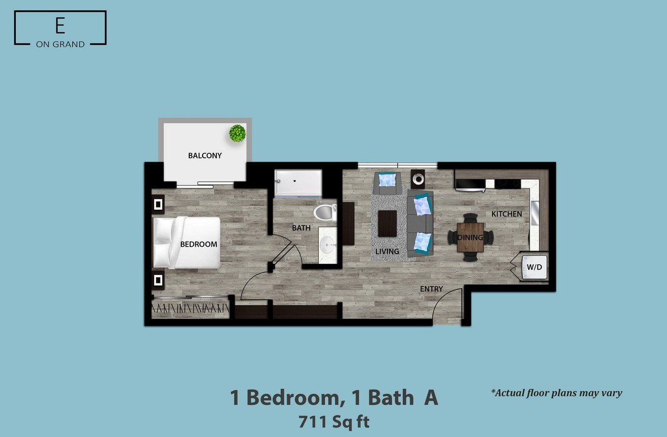 1 Bedroom 1 Bathroom Apartment for rent at E on Grand in Los Angeles, CA