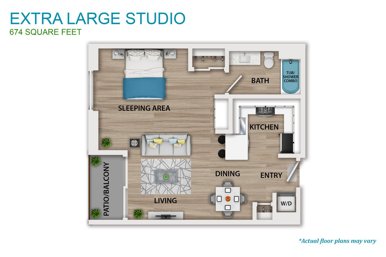 Studio 1 Bathroom Apartment for rent at The Culver in Los Angeles, CA