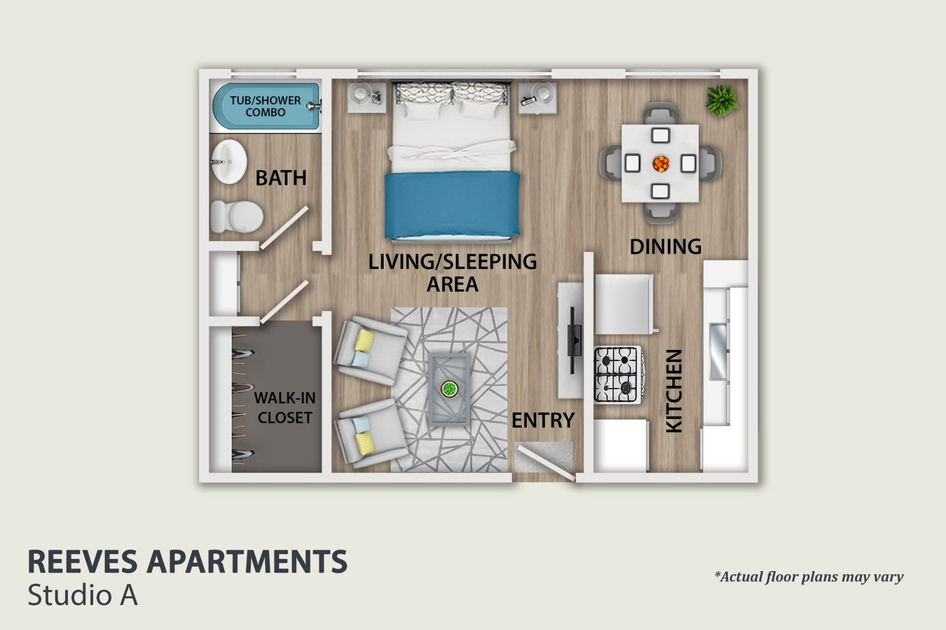 Studio 1 Bathroom Apartment for rent at Reeves in Beverly Hills, CA