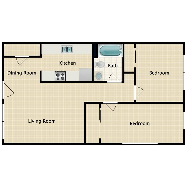 2 Bedrooms 1 Bathroom Apartment for rent at Gordon River in Naples, FL