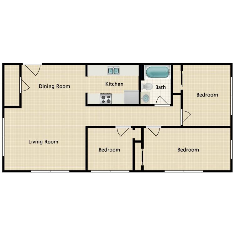 3 Bedrooms 1 Bathroom Apartment for rent at Gordon River in Naples, FL