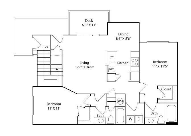 2 Bedrooms 2 Bathrooms Apartment for rent at The Enclave at Crossroads in Raleigh, NC