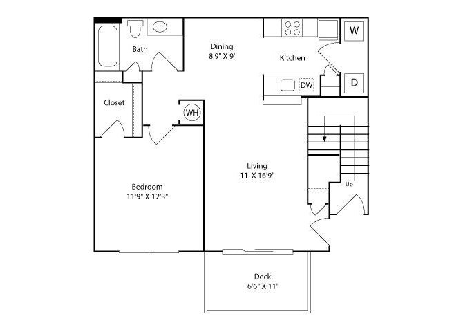 1 Bedroom 1 Bathroom Apartment for rent at The Enclave at Crossroads in Raleigh, NC