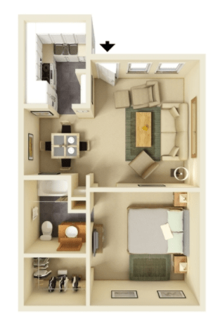 1 Bedroom 1 Bathroom Apartment for rent at Stone Lake in Indianapolis, IN