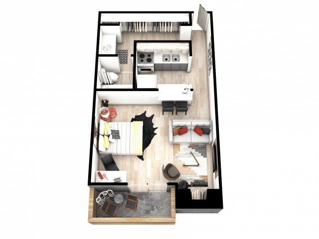 Studio 1 Bathroom Apartment for rent at Mint Urban Infinity I in Denver, CO