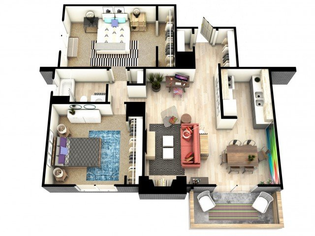 2 Bedrooms 1 Bathroom Apartment for rent at Mint Urban Infinity I in Denver, CO