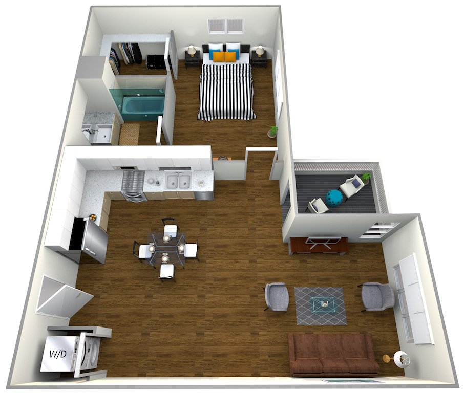1 Bedroom 1 Bathroom Apartment for rent at The Roy in Los Angeles, CA