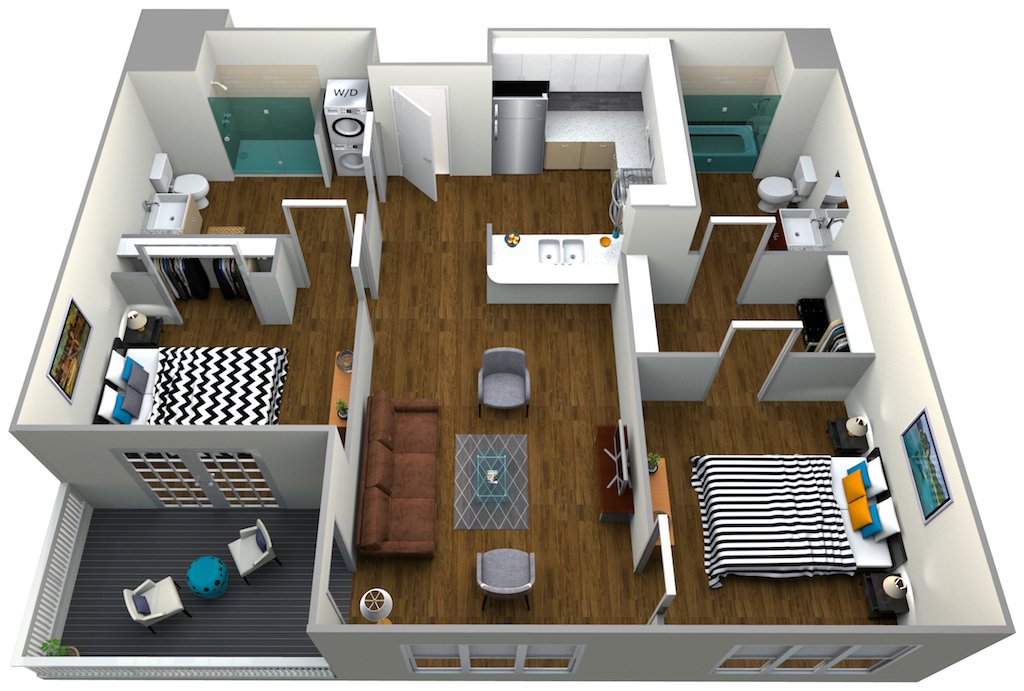 2 Bedrooms 2 Bathrooms Apartment for rent at The Roy in Los Angeles, CA