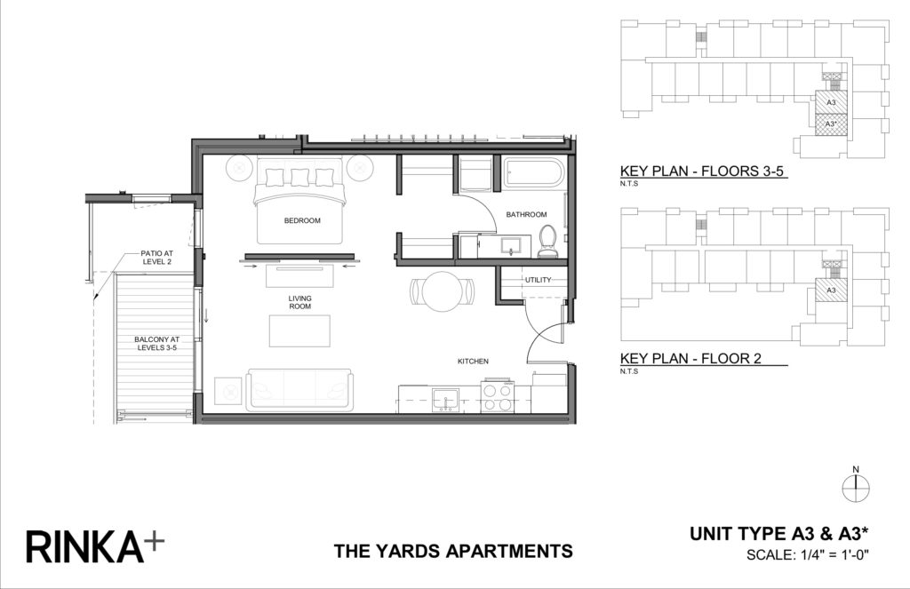 Studio 1 Bathroom Apartment for rent at The Yards in Milwaukee, WI