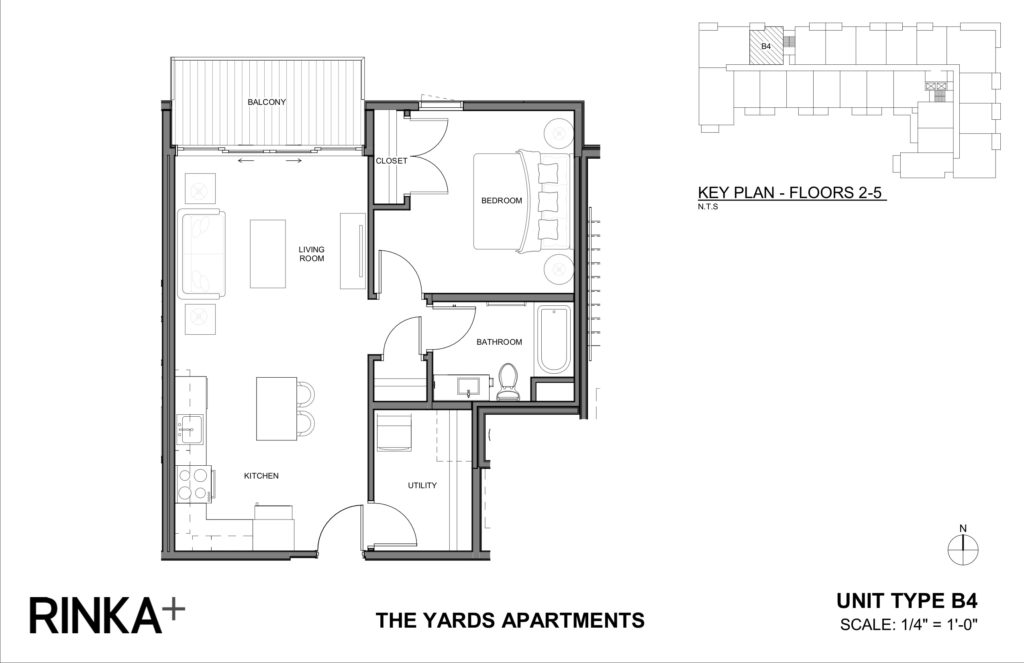 1 Bedroom 1 Bathroom Apartment for rent at The Yards in Milwaukee, WI