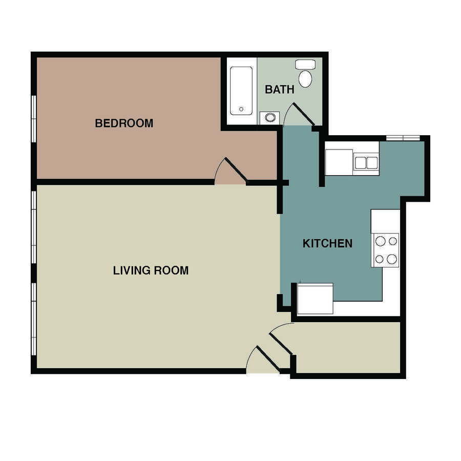 1 Bedroom 1 Bathroom Apartment for rent at Rustic Lodge in Minneapolis, MN