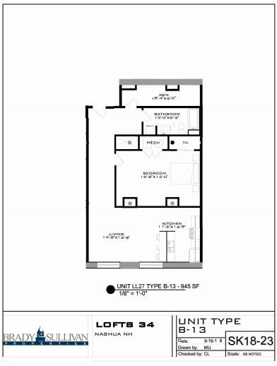 1 Bedroom 1 Bathroom Apartment for rent at Lofts 34 in Nashua, NH