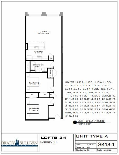 2 Bedrooms 1 Bathroom Apartment for rent at Lofts 34 in Nashua, NH