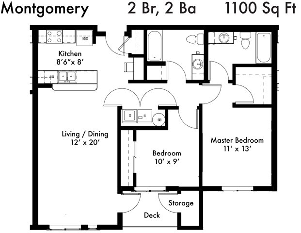2 Bedrooms 2 Bathrooms Apartment for rent at Uptown Square in Federal Way, WA