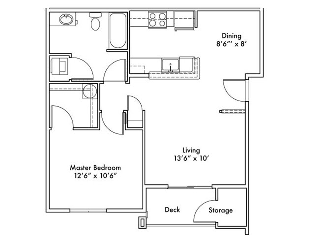 1 Bedroom 1 Bathroom Apartment for rent at Uptown Square in Federal Way, WA