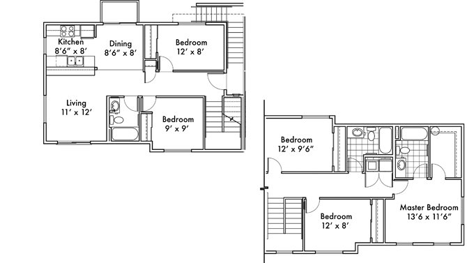 5 Bedrooms 3 Bathrooms Apartment for rent at Uptown Square in Federal Way, WA