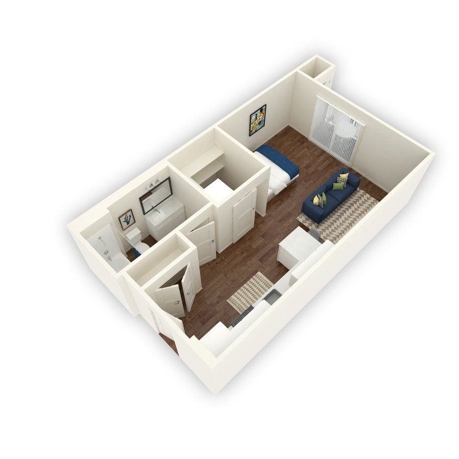 Studio 1 Bathroom Apartment for rent at Block 44 in Salt Lake City, UT