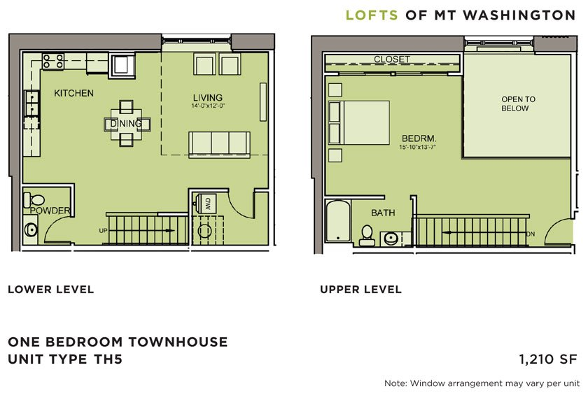 1 Bedroom 1 Bathroom Apartment for rent at Lofts Of Mt. Washington in Pittsburgh, PA
