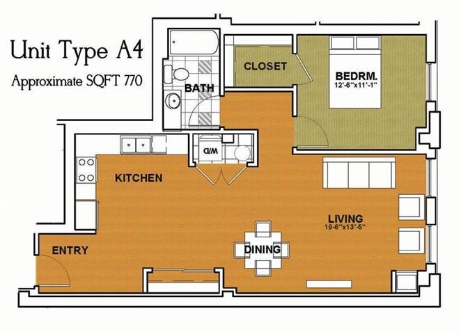 1 Bedroom 1 Bathroom Apartment for rent at Locomotive Lofts in Pittsburgh, PA
