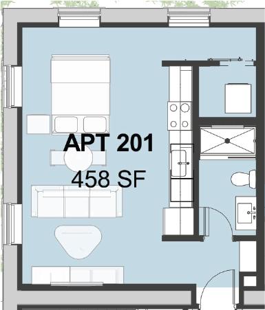 Studio 1 Bathroom Apartment for rent at Bayard School Lofts in Pittsburgh, PA