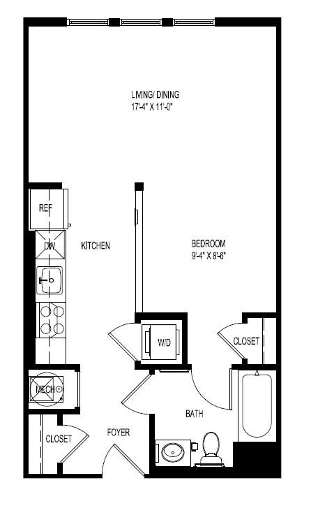 Studio 1 Bathroom Apartment for rent at Portside at East Pier in East Boston, MA