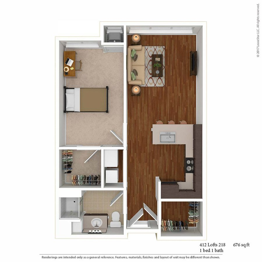 1 Bedroom 1 Bathroom Apartment for rent at 412 Lofts in Minneapolis, MN